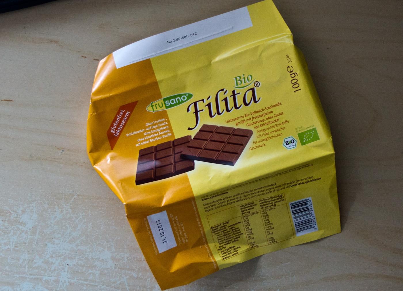 Frusano Bio Filita Vollmilch Schokolade