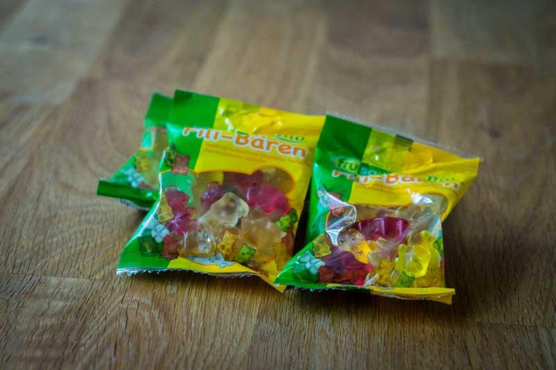 Fruktosefreie Gummibärchen von Frusano
